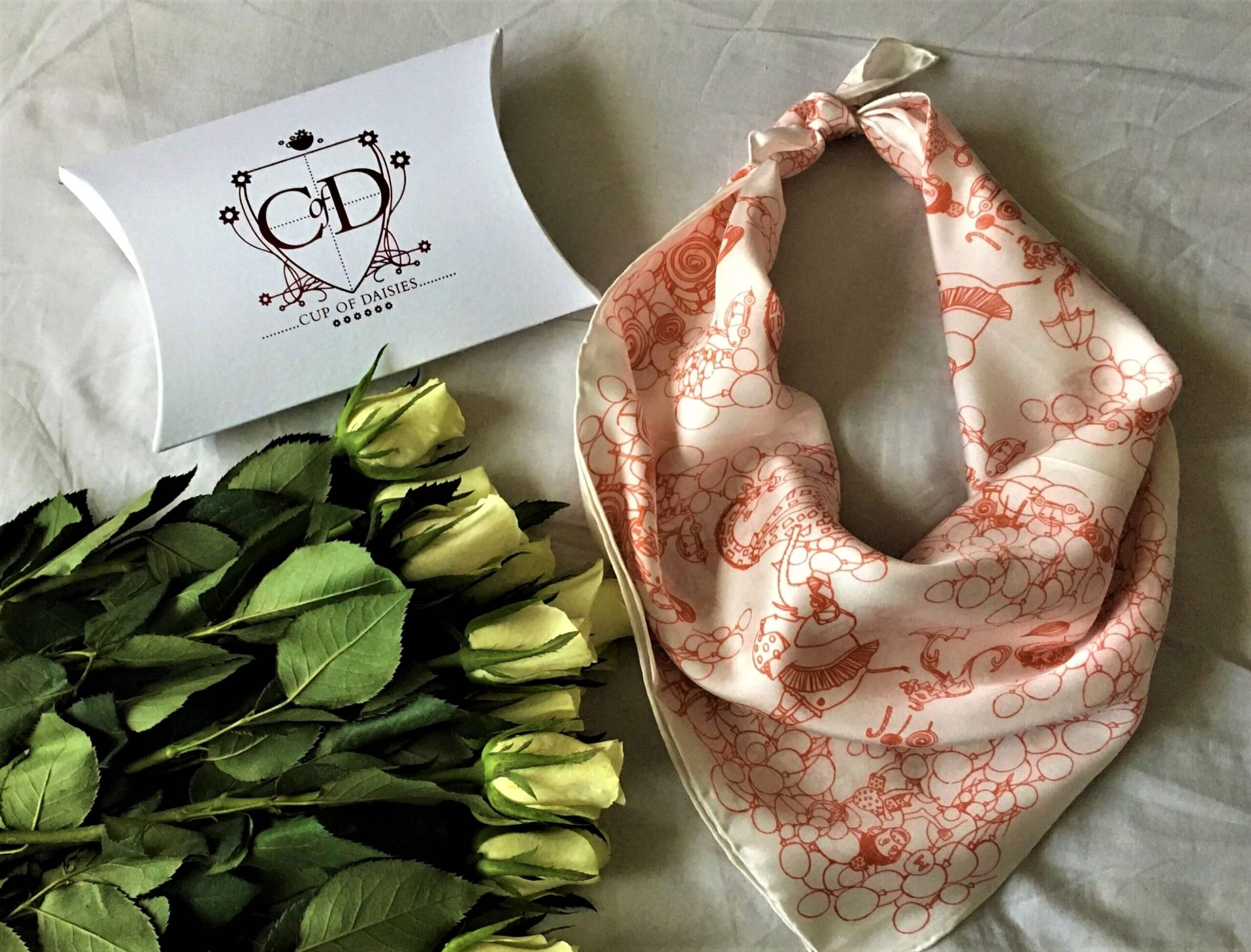 Cup of Daisies - Orange Scarf
